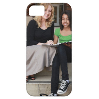 student and teacher outside on steps at school barely there iPhone 5 case