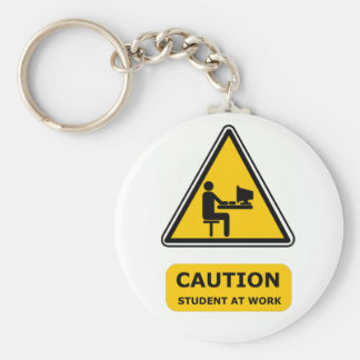 Student at work keyring key chain