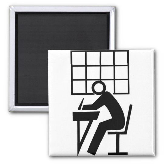 Student Diagram Square Magnet