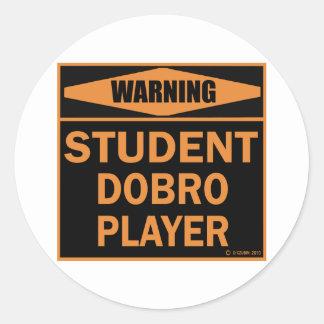 Student Dobro Player Round Sticker