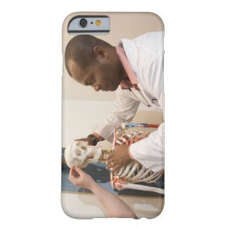 Student doctors studying anatomy on a skeleton barely there iPhone 6 case
