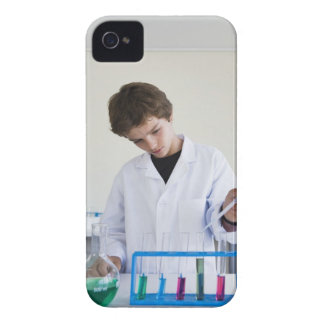 Student doing science experiment 4 iPhone 4 covers
