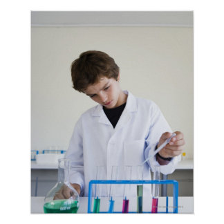 Student doing science experiment 4 poster
