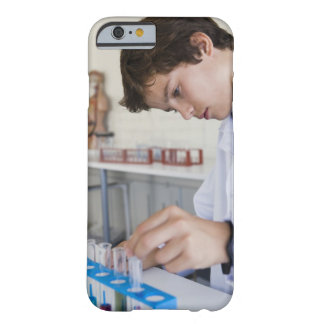Student doing science experiment barely there iPhone 6 case