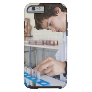 Student doing science experiment tough iPhone 6 case