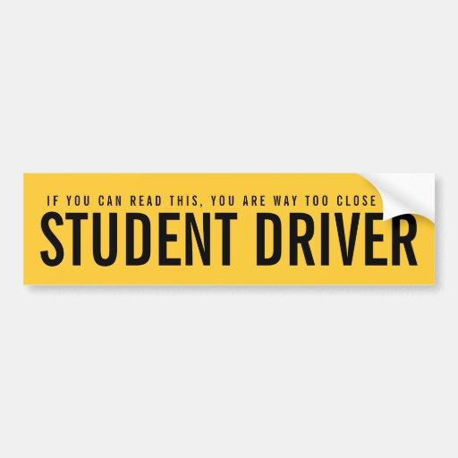 Bad Driving Bumper-Sticker