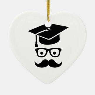 Student Graduation hat mustache Christmas Tree Ornaments