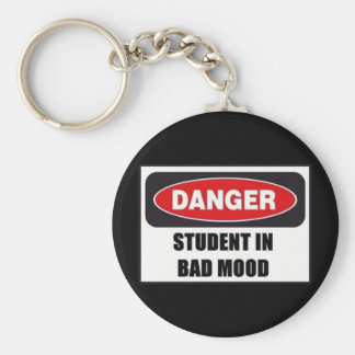 Student in Bad Mood! Key Ring