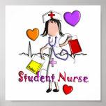 Student Nurse Art Poster-Embossed Style Graphics