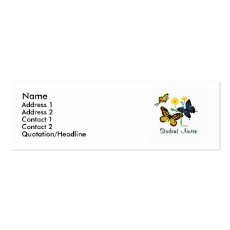 Student Nurse Butterflies Pack Of Skinny Business Cards