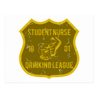 Student Nurse Drinking League Postcard