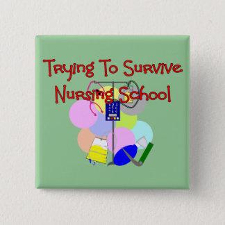 Student Nurse gifts 15 Cm Square Badge