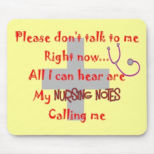 "Student Nurse ""Nursing Notes"" Funny T-shirt Mouse Mat"