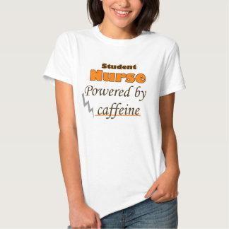 Student Nurse Powered by caffeine Shirts
