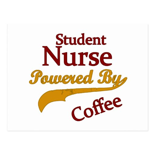 Student Nurse Powered By Coffee Postcard