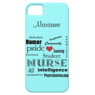 Student Nurse Pride-Attributes /Aqua Mist Barely There iPhone 5 Case