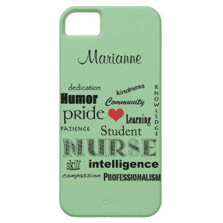 Student Nurse Pride-Attributes /Green Mist iPhone 5 Cases