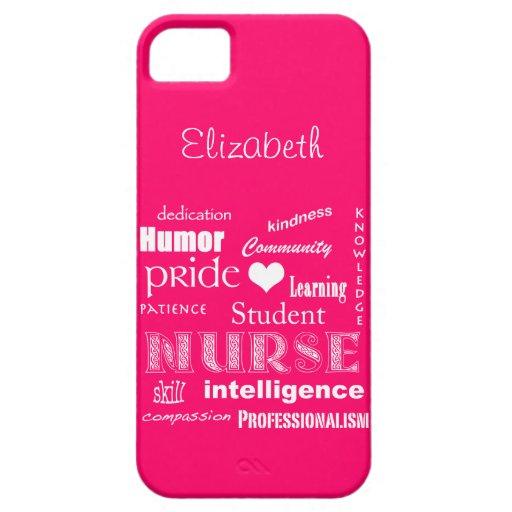 Student Nurse Pride-Attributes /Vibrant Pink iPhone 5 Case
