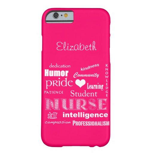 Student Nurse Pride-Attributes /Vibrant Pink iPhone 6 Case