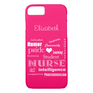 Student Nurse Pride-Attributes /Vibrant Pink iPhone 7 Case