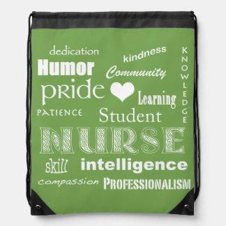 Student Nurse Pride-Attributes/White Heart Rucksack