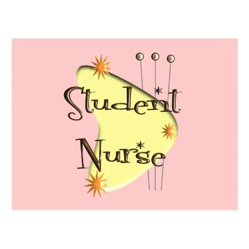 Student Nurse Retro Style Design Gifts Postcard