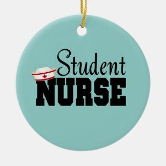 Student Nurse Round Ceramic Decoration