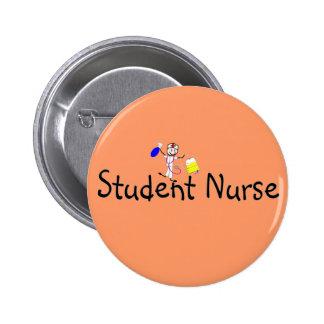 Student Nurse Stick Person 6 Cm Round Badge