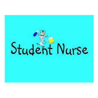 Student Nurse Stick Person Post Cards