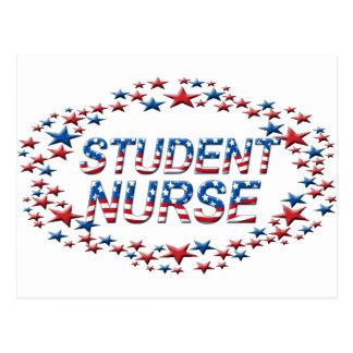 STUDENT NURSE - USA PATRIOTIC STARS POST CARD