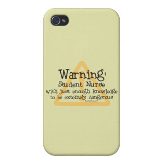 Student Nurse Warning iPhone 4 Cases