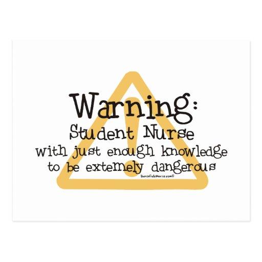Student Nurse Warning Post Card