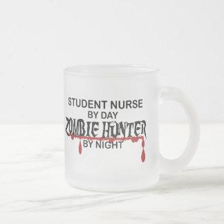 Student Nurse Zombie Hunter Frosted Glass Coffee Mug