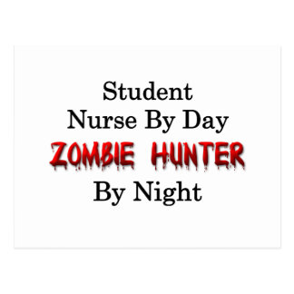 Student Nurse Zombie Hunter Post Cards