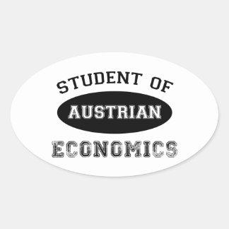 Student of Austrian Economics Oval Sticker