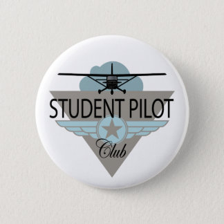 Student Pilot Club 6 Cm Round Badge