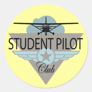 Student Pilot Club Classic Round Sticker