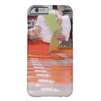 Student removing binder from school locker barely there iPhone 6 case