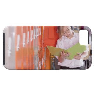 Student removing binder from school locker iPhone 5 case