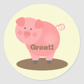 Student Reward Sticker - Pig & Mud