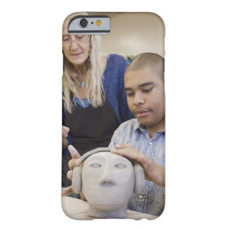 Student sculpting bust in classroom barely there iPhone 6 case