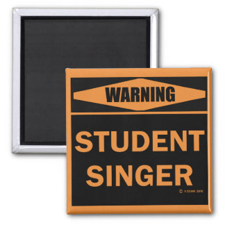 Student Singer Square Magnet