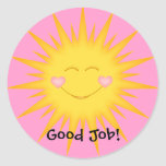 Student Stickers/Good Job,Well Done,Super Student Round Sticker