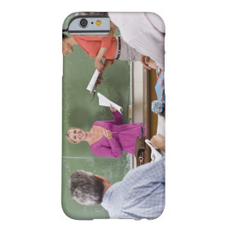 Student talking to class and standing by teacher barely there iPhone 6 case