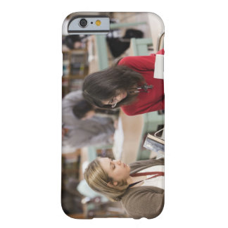 Student talking to librarian in school library barely there iPhone 6 case