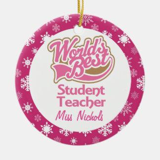 Student Teacher Personalized Ornament