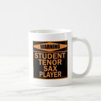 Student Tenor Sax Player Basic White Mug