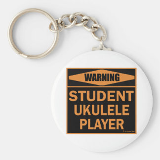 Student Ukulele Player Basic Round Button Key Ring