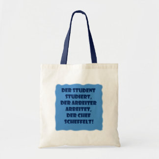 Student, worker and boss tote bag