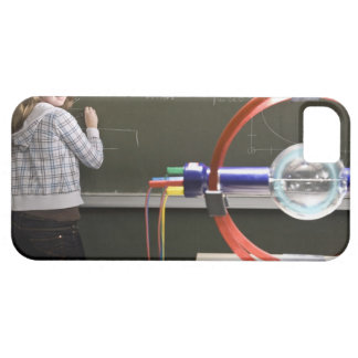 Student writing on blackboard iPhone 5 cover